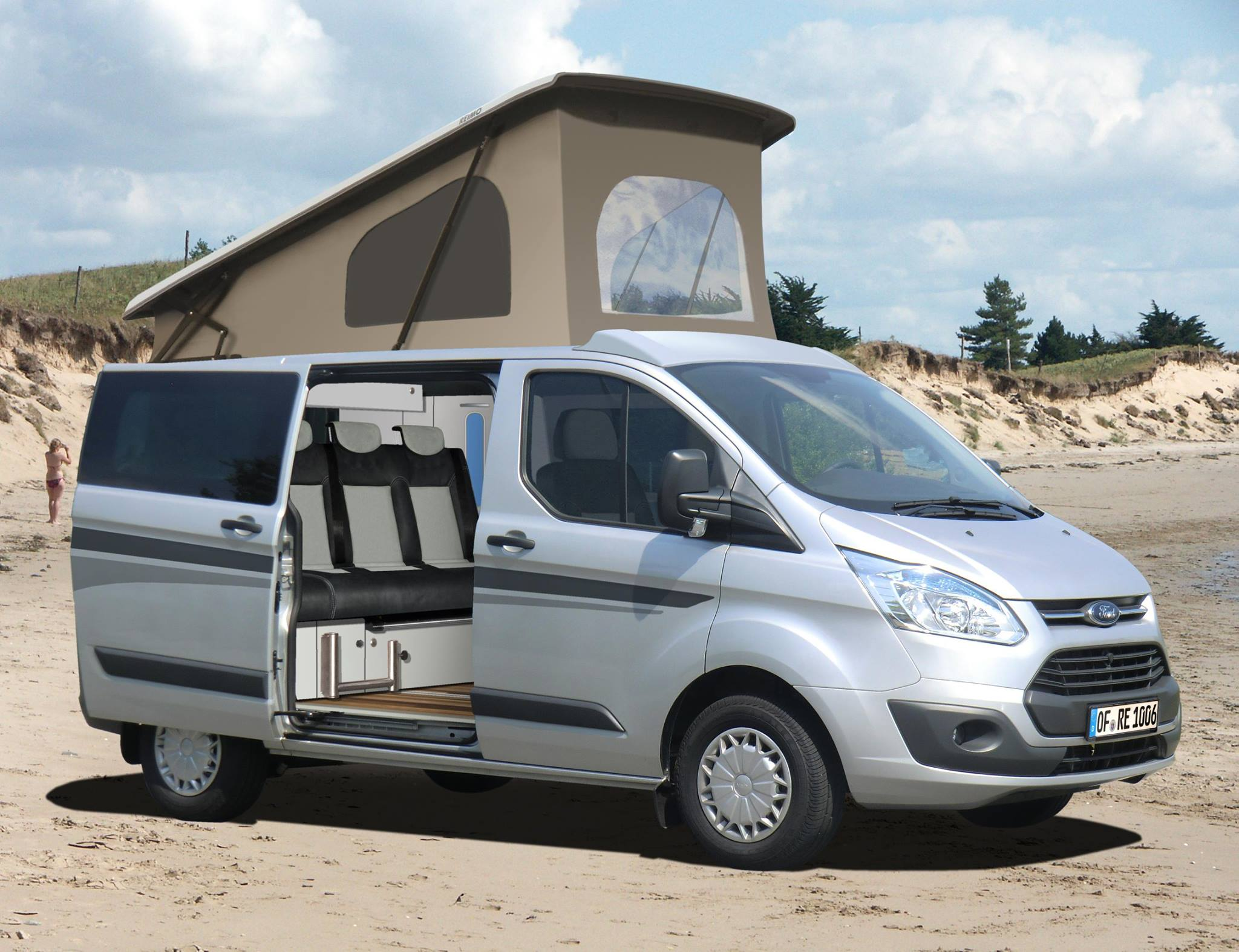 ford transit tourneo custom reimo aufstell schlafdach. Black Bedroom Furniture Sets. Home Design Ideas